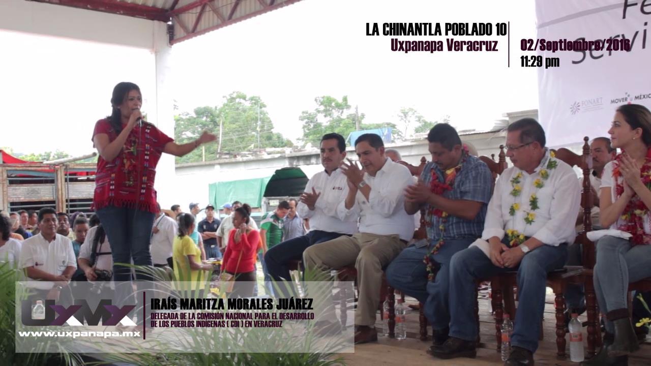 Irais Maritza Morales Juarez delegada del CDI en Uxpanapa
